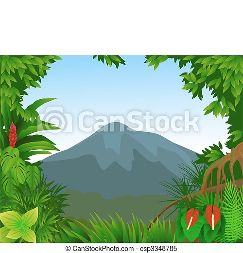 Forest background - csp3348785