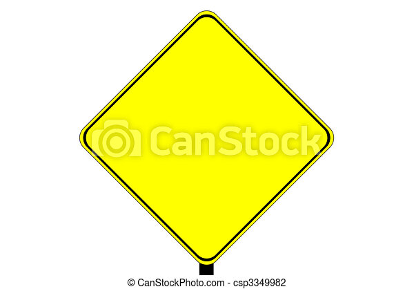 Blank caution sign  - csp3349982