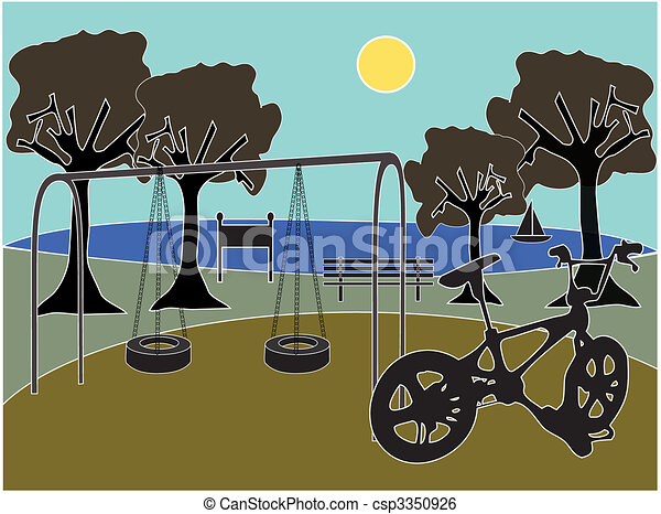 Park with playground - csp3350926