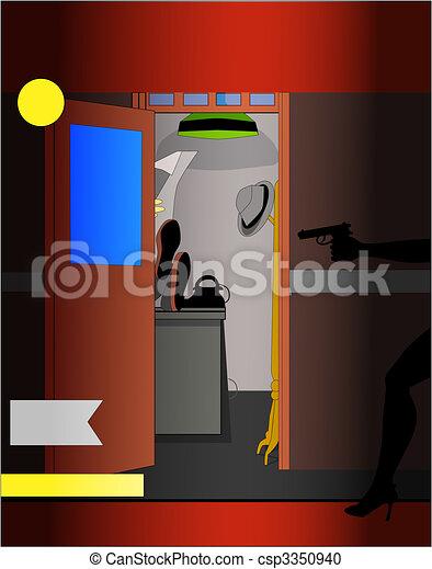 Pulp Fiction Scene Cover - csp3350940