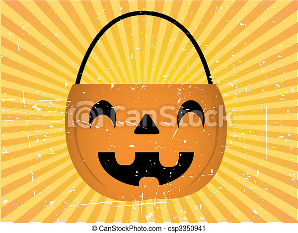 Halloween Candy Holder Background - csp3350941