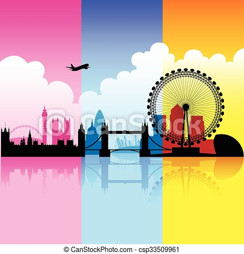 Colorful City of London - csp33509961