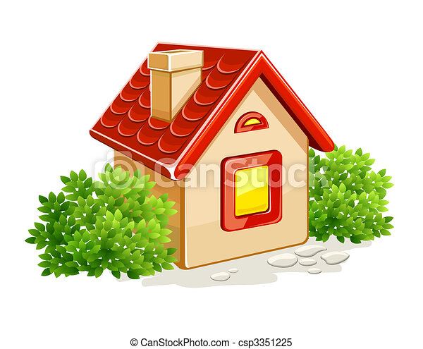 little private house in green bushes - csp3351225