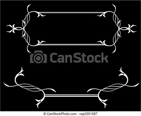 illustrations vectoris es de asbtract blanc noir encadrement asbtract noir et. Black Bedroom Furniture Sets. Home Design Ideas