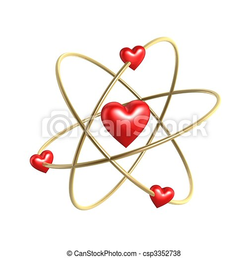 love heart atom structure - csp3352738