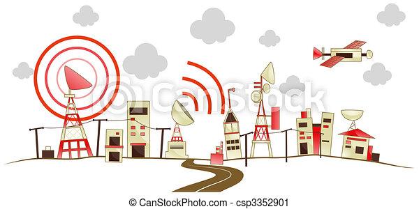 Communication City - csp3352901
