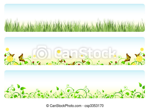 spring banners - csp3353170