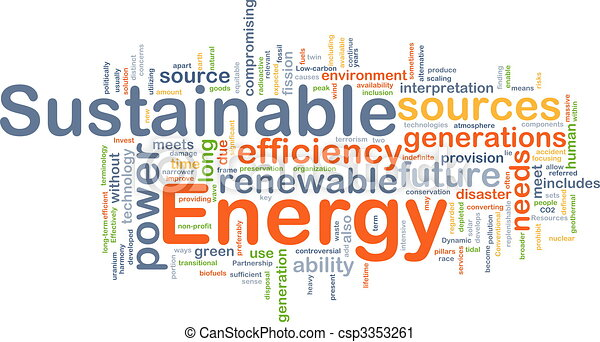 Sustainable energy background concept - csp3353261