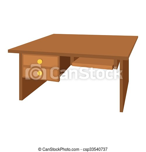vecteurs de bureau bois dessin anim bureau ic ne wooden bureau csp33540737. Black Bedroom Furniture Sets. Home Design Ideas