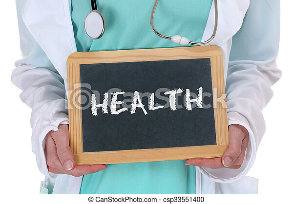Health care healthcare ill illness healthy doctor with sign