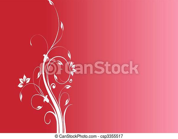 Floral ornament - csp3355517