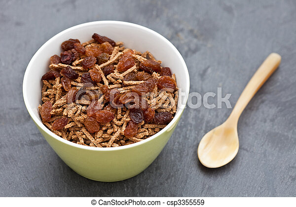 Bran breakfast cereal with sultanas - csp3355559