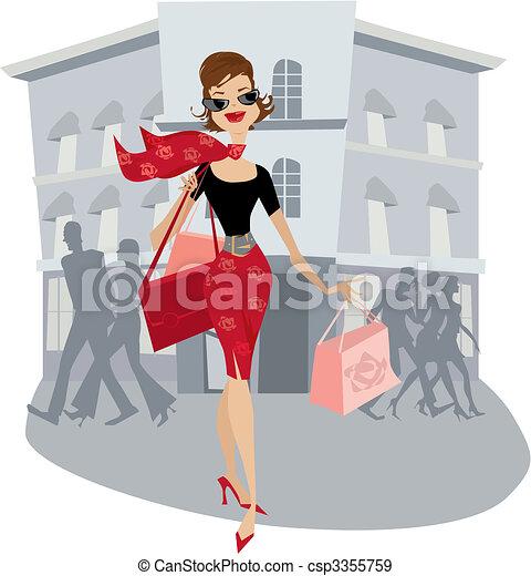 Shopping lady - csp3355759