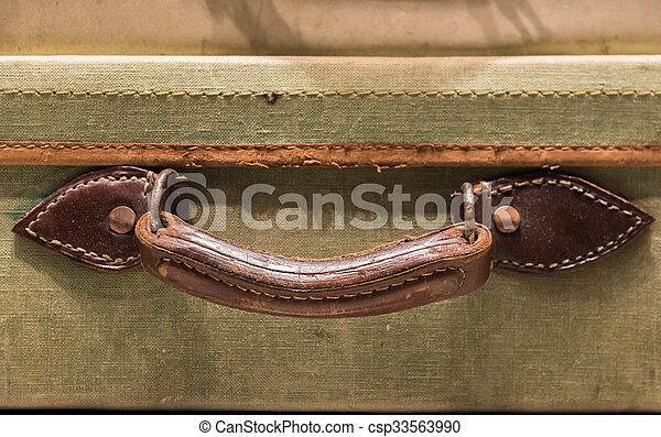 Stock Photographs of Tatty Suitcase Handle - Worn Leather Handle ...
