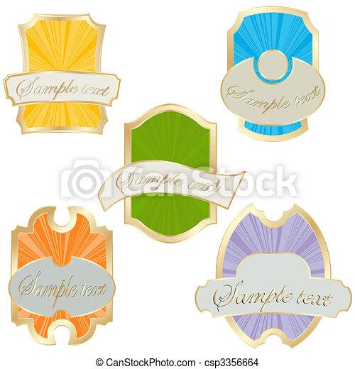 Commercial labels  - csp3356664