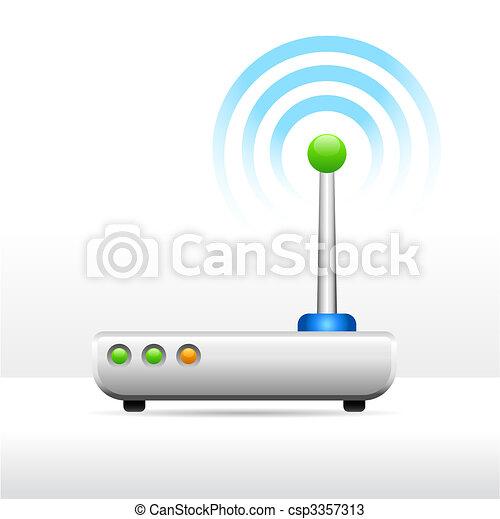 Computer modem antenna signal image - csp3357313