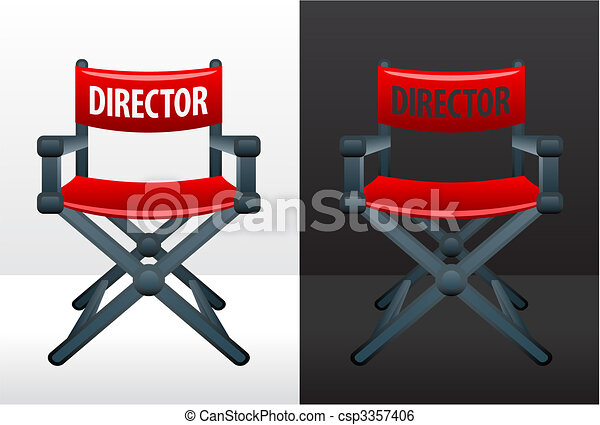 Movie director\'s chair - csp3357406