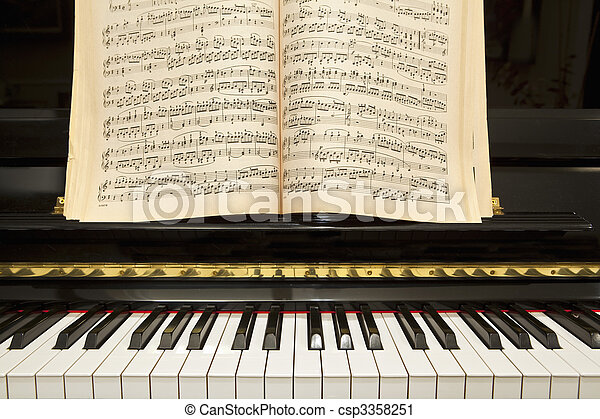 Piano with Music Book - csp3358251