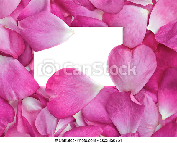 rose petals with card - csp3358751