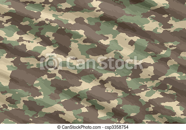 camo camouflage material - csp3358754