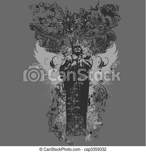 Vector Divinity Apparel Design - csp3359332