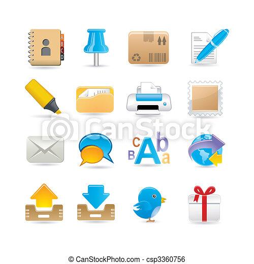 post office set - csp3360756
