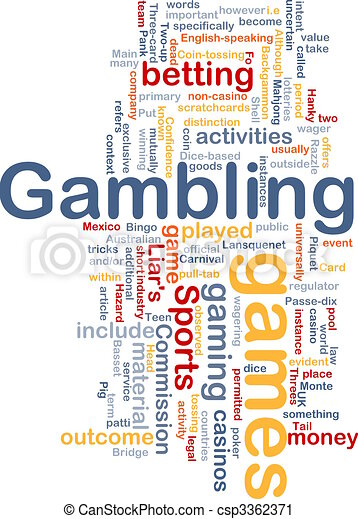 Gambling betting background concept - csp3362371