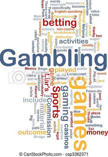 Gambling betting background concept - csp3362371
