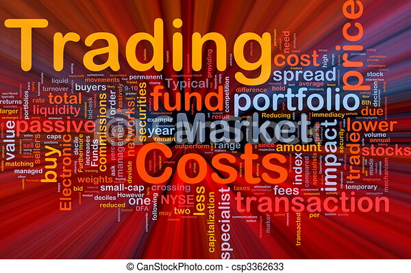 Trading costs background concept glowing - csp3362633