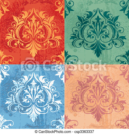Color Variations Of Classic Decor Elements - csp3363337
