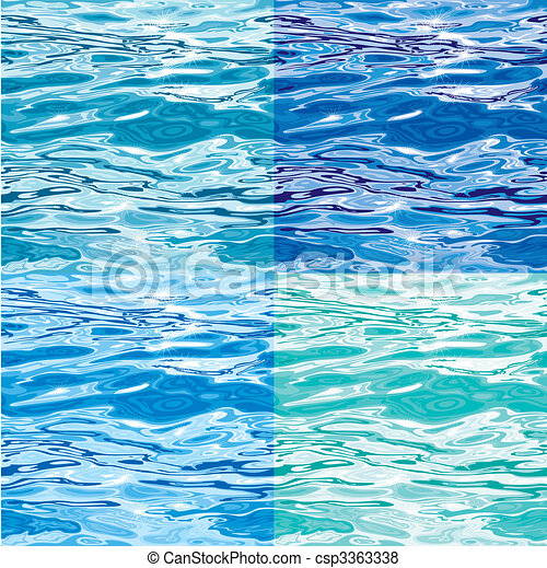 Seamless Water Surface Pattern Variations - csp3363338
