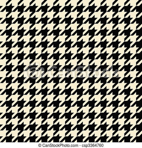 Stock Illustration of Tan Houndstooth Pattern - Black and tan ...