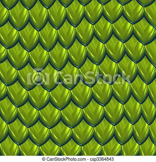dragon scales vector - csp3364843