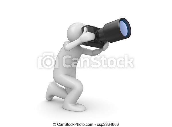 Photographer - man at work series - csp3364886