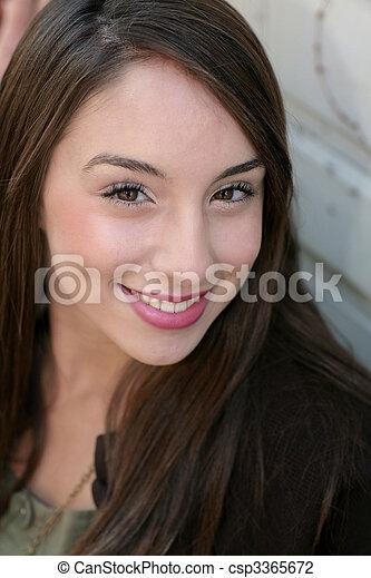 young adult headshot - csp3365672
