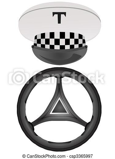 Vectors Illustration of rudder - Peak-cap of the taxi ...