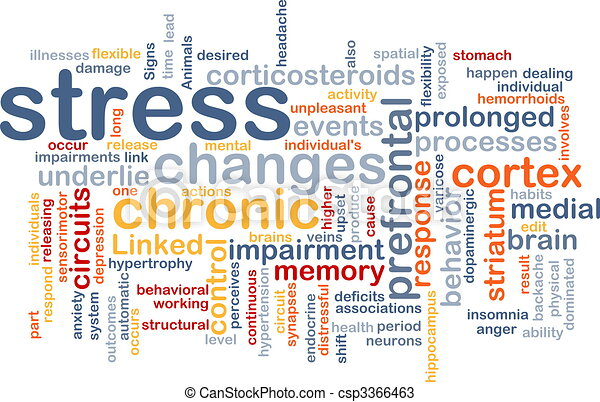 Mental stress background concept - csp3366463