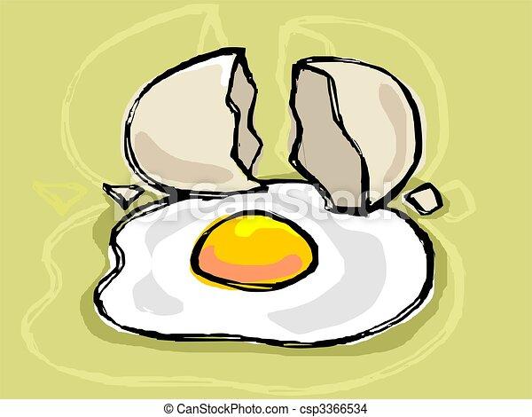 Cartoon egg yolk. |Yolk Drawing