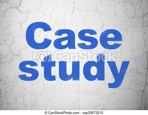 Learning concept: Case Study on wall background - csp33673215
