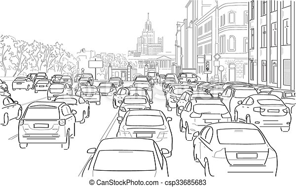 Traacute fico Atasco De Coches 33685683 likewise Traffic Light Icon besides  on traffic jam of cars 33685683