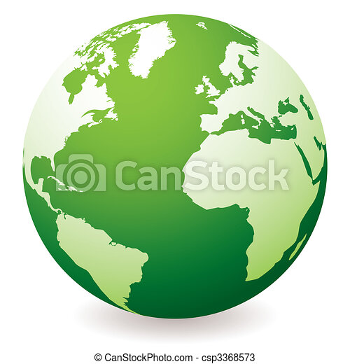 green earth globe - csp3368573