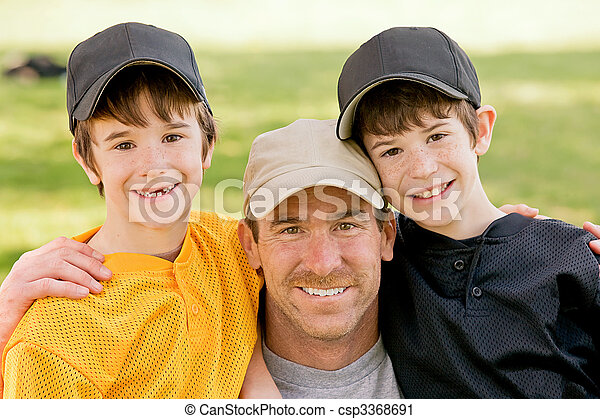 Dad and Boys - csp3368691