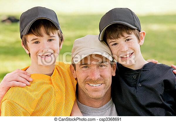 Dad and Boys - csp3368691