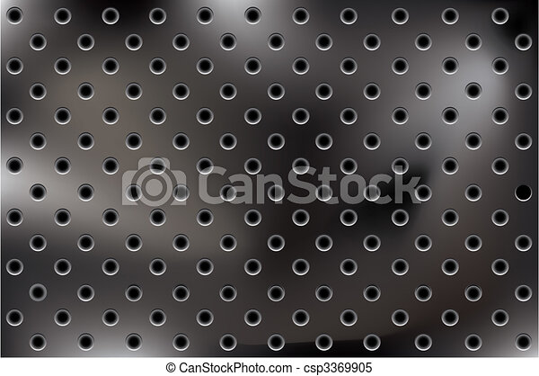 vector metallic background with holes - csp3369905