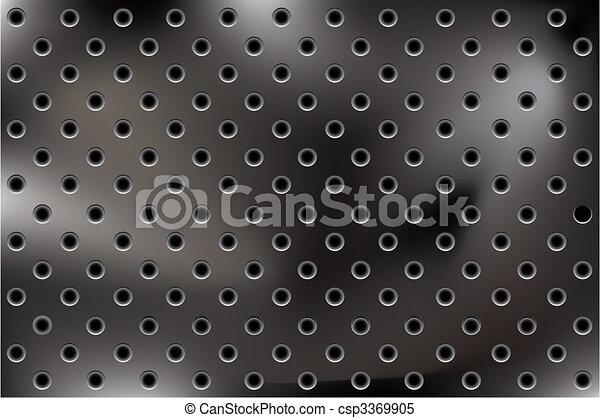 vector metallic background with holes - csp3369905