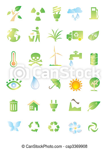 environment icon set - csp3369908