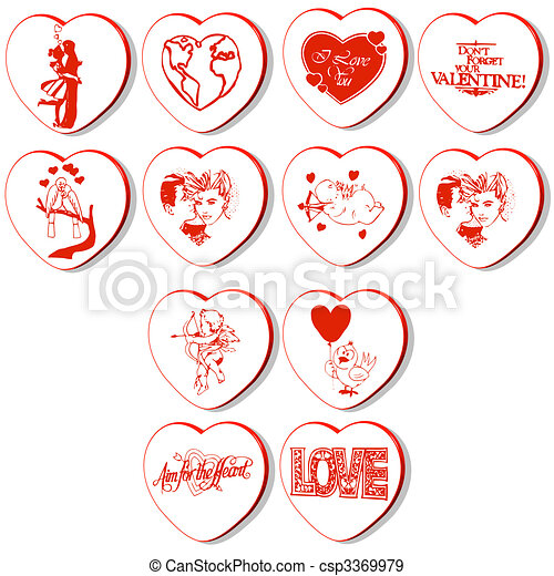 hearts vectors - csp3369979