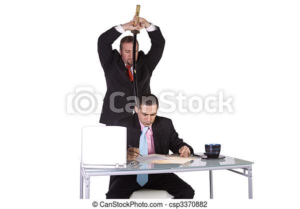 Businessmen Backstabbing Concept - csp3370882
