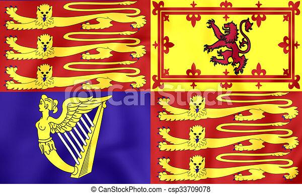 Royal Standard of United Kingdom - csp33709078