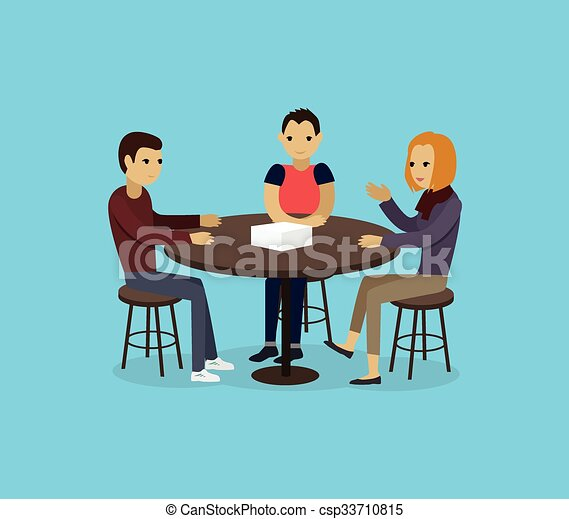Vector Clip Art of Focus Group Concept - Focus group ...